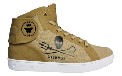 Sneakers Baron Papillon - Sea Shepherd vaquita naturel - vue laterale