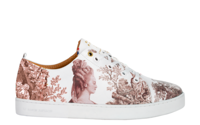 Sneakers Baron Papillon Basse Marie-Antoinette old pink - lateral