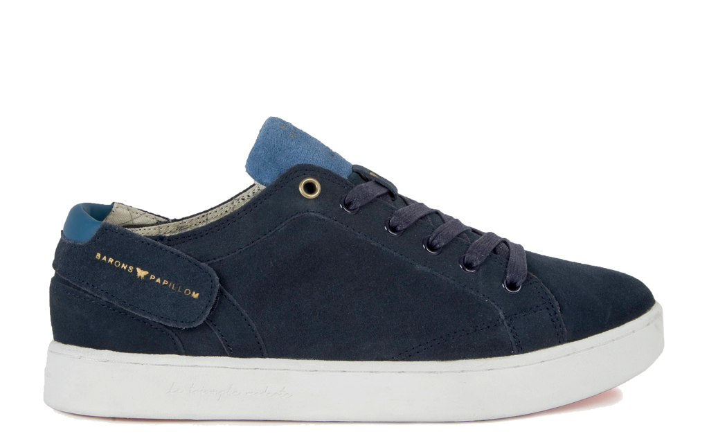 Sneaker Barons Papillom Low Suede leather navy