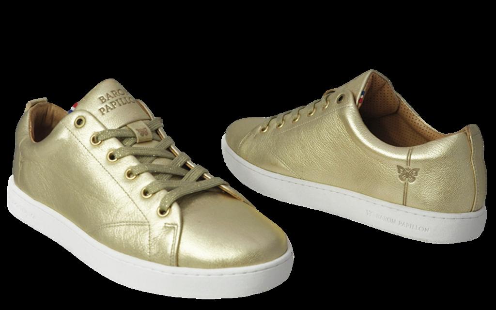 Sneaker Baron Papillon Basse champagne doré