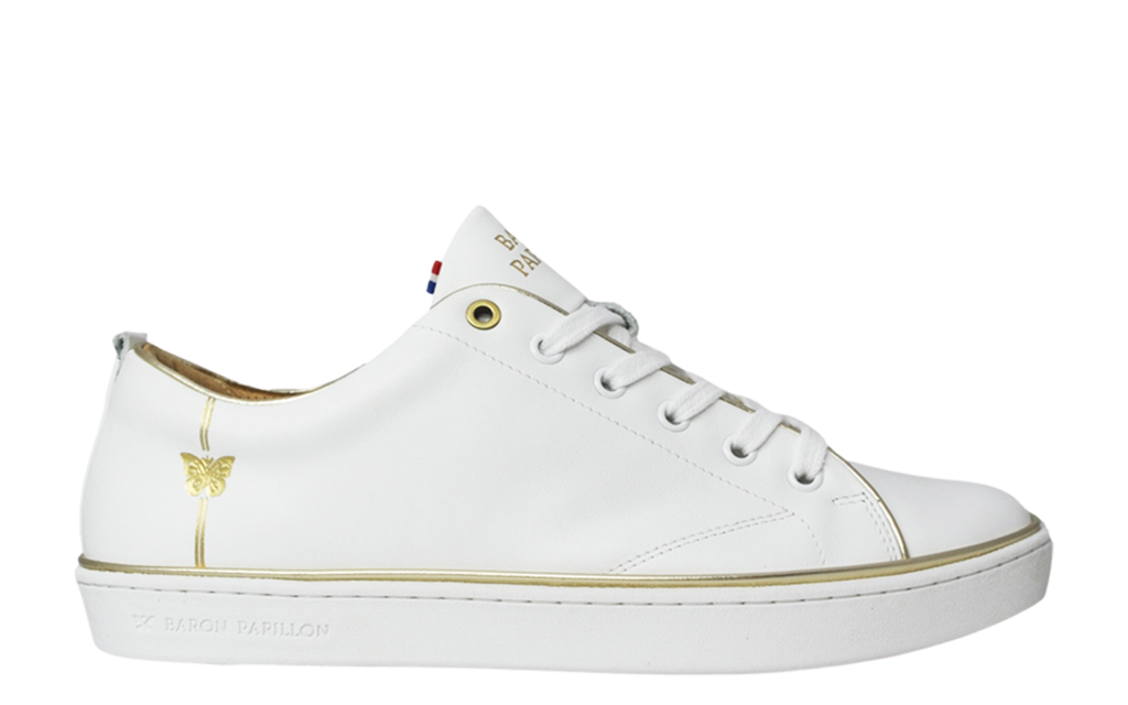 Sneaker Baron Papillon Low Piping gold