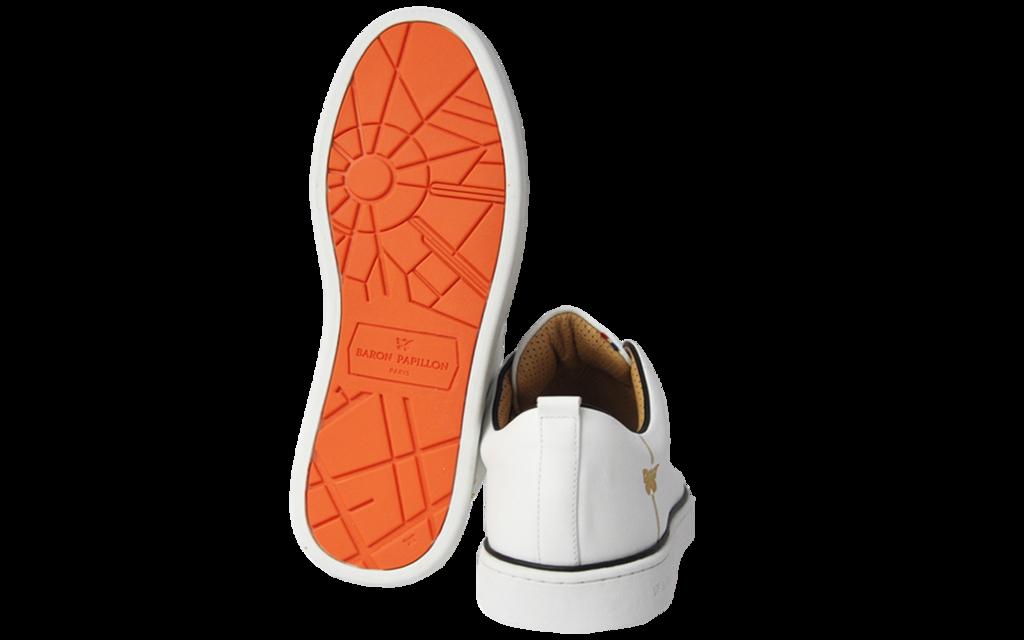 Sneaker Baron Papillon Basse Piping noir
