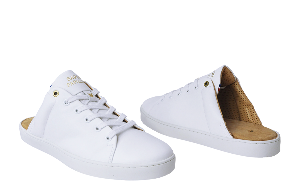 Sneaker Mule Baron Papillon Blanc