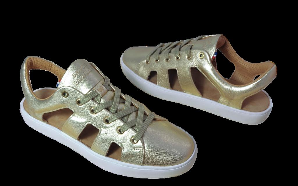 Sneaker Sandale Baron Papillon Champagne doré