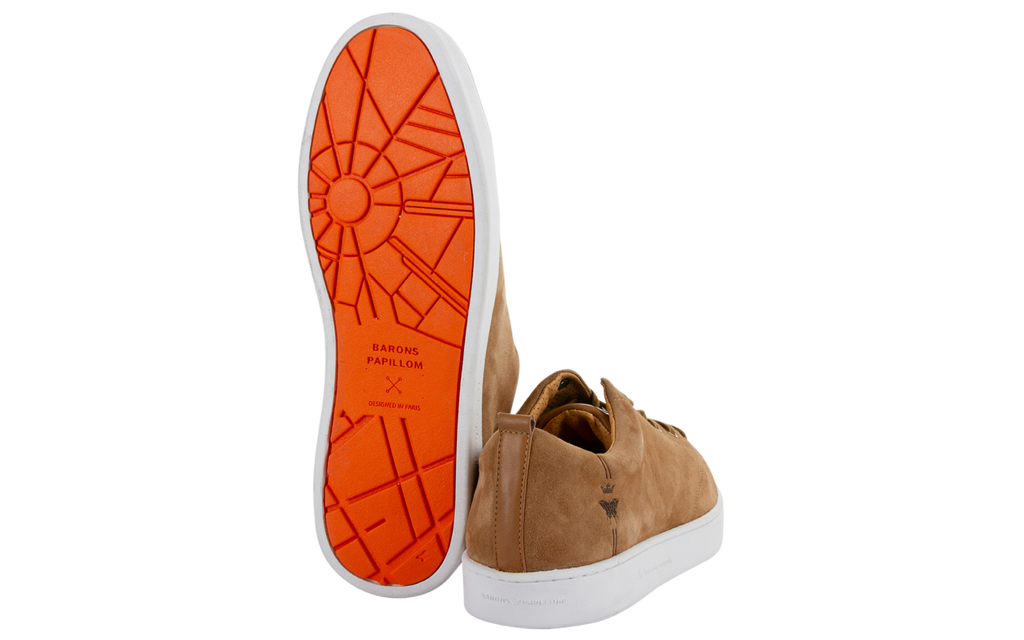 Sneaker Baron Papillon Basse Daim Camel