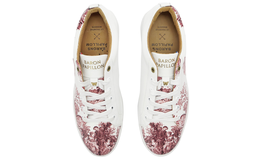 Sneaker Baron Papillon Basse Marie-Antoinette vieux rose