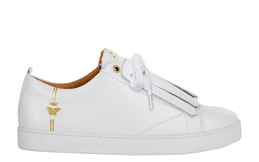 Sneaker Baron Papillon Basse blanche pattes mexicaines