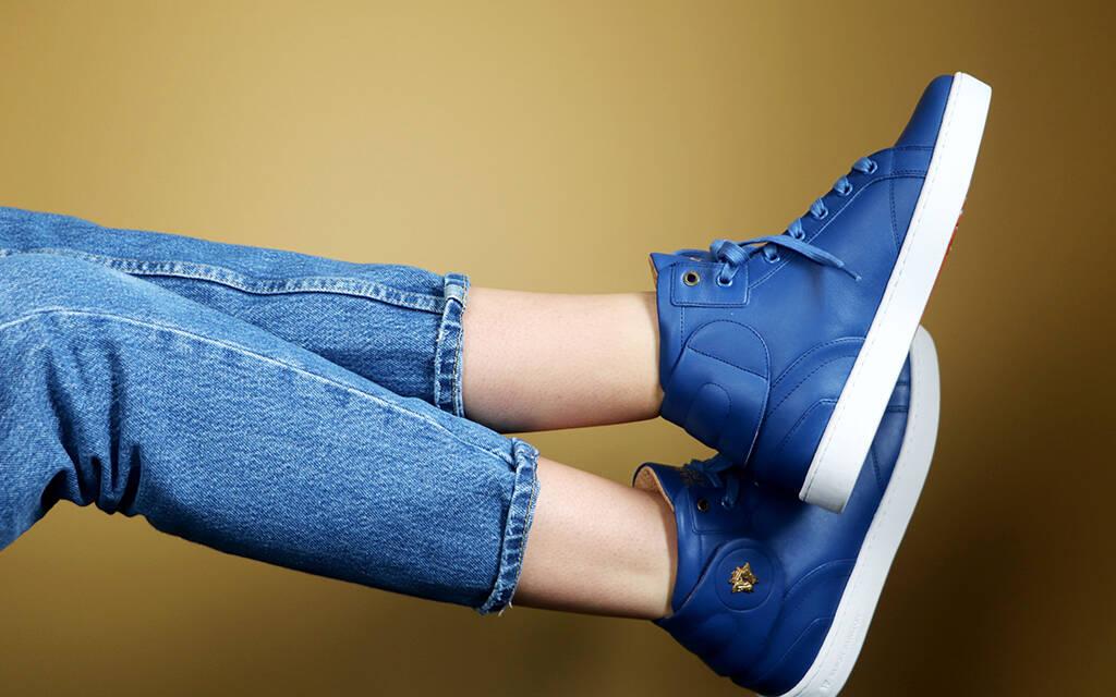 Sneaker Baron Papillon Mid Royal Bleu