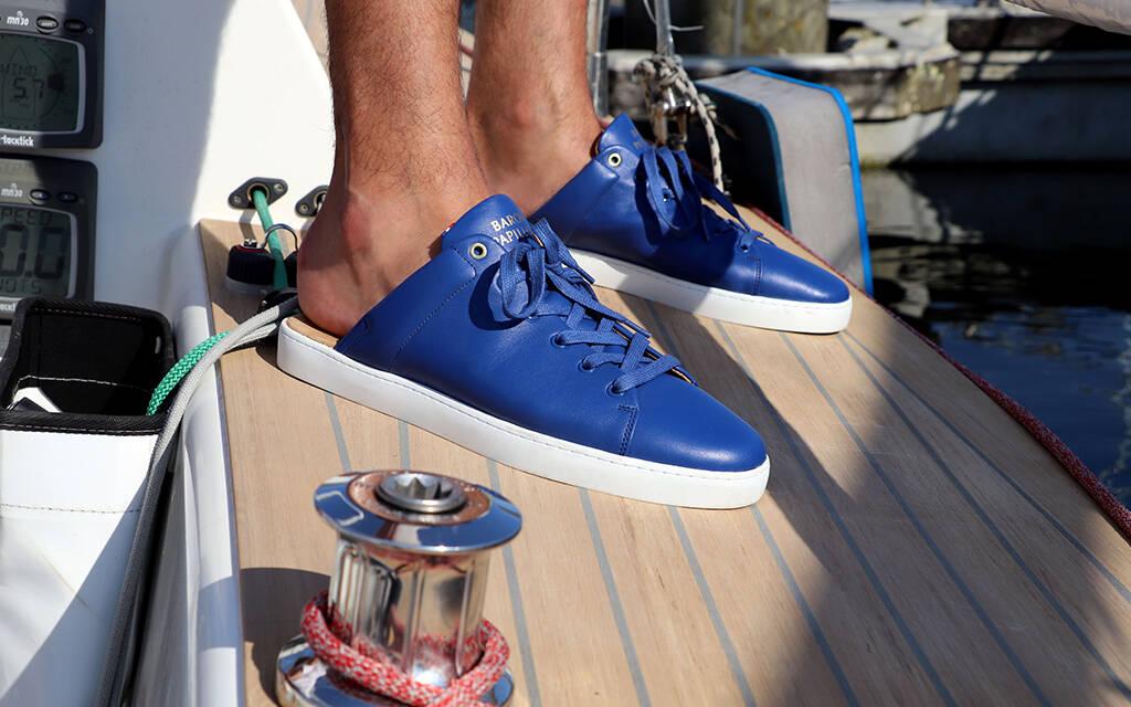 Sneaker Mule Baron Papillon Blue