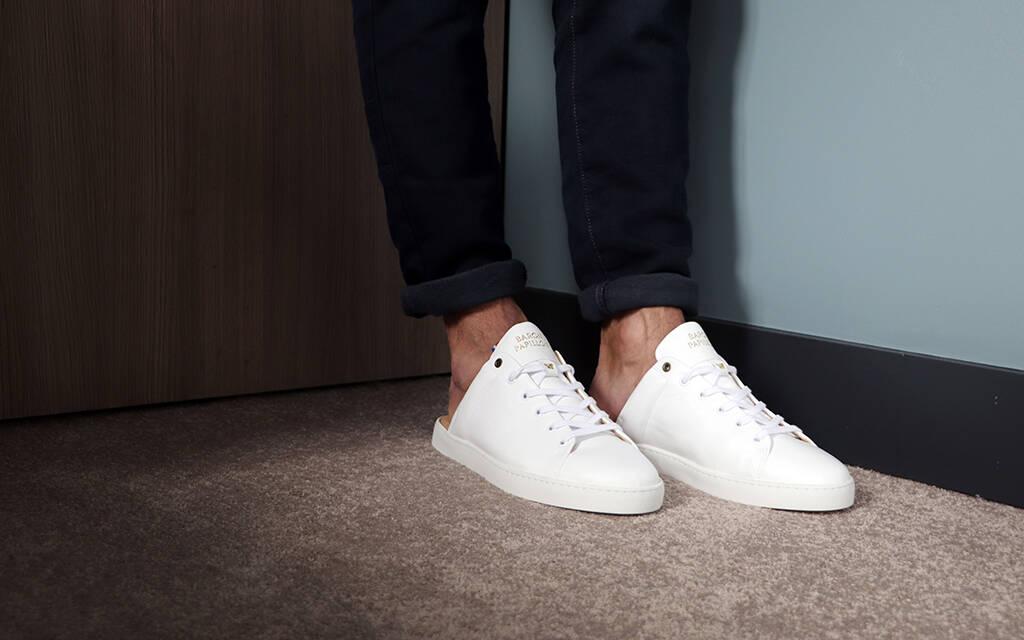 Sneaker Mule Baron Papillon white